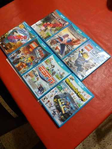 Lote X5 Juegos Wii U.