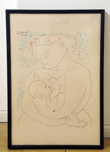 Picasso maternidad lámina enmarcada