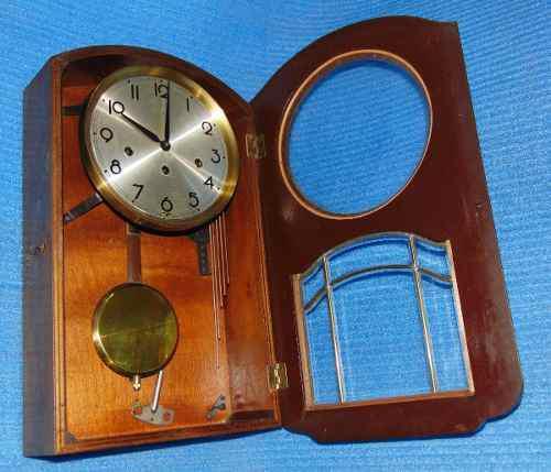 Reloj antiguo de péndulo casa escasany alemán
