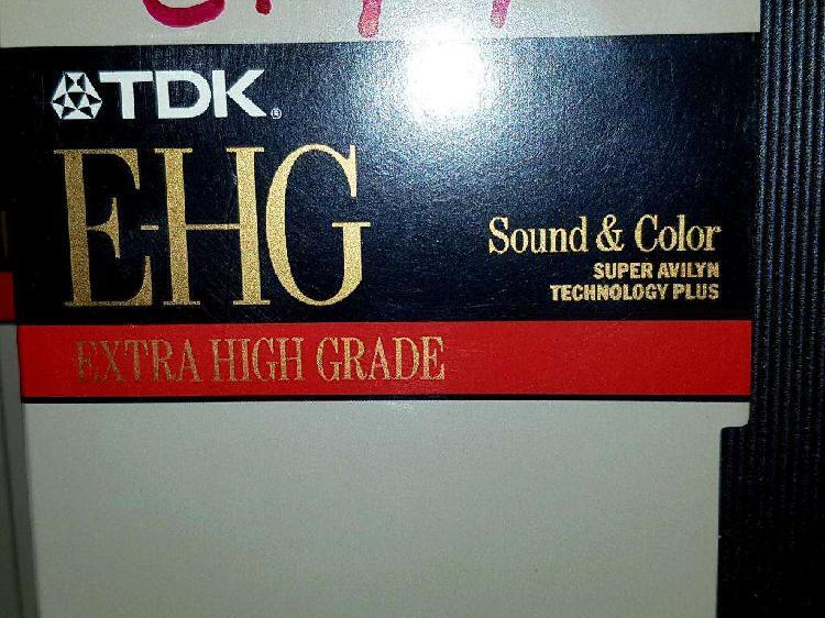 Vhs video cassettes tdk ehg alta definicion para grabar