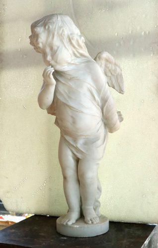 Ngel mármol estatua escultura blanca - antig la rueda _ l