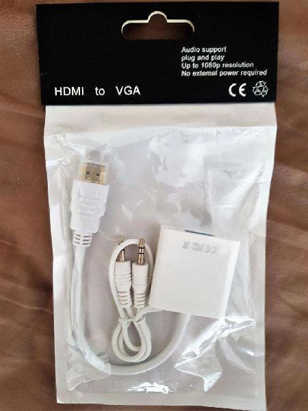 ADAPTADOR HDMI A VGA C AUDIO, CERRADO