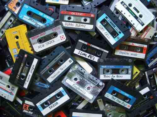 Cassettes usados / con su caja / precio por unidad