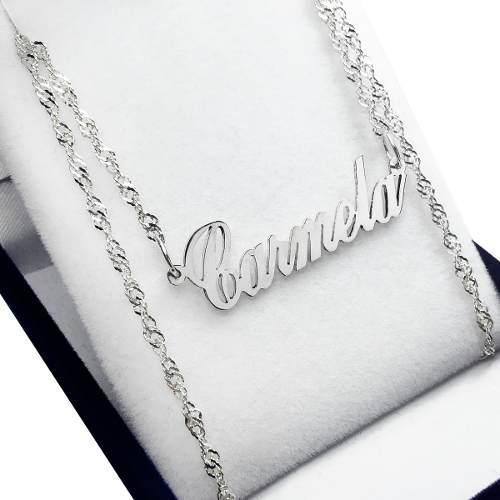 Conjunto cadena + nombre plata 925 mujer regalo 15 años