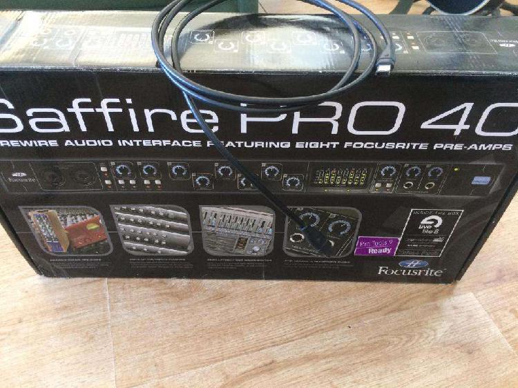 Saffire pro 40 placa de audio focusrite cable firewire