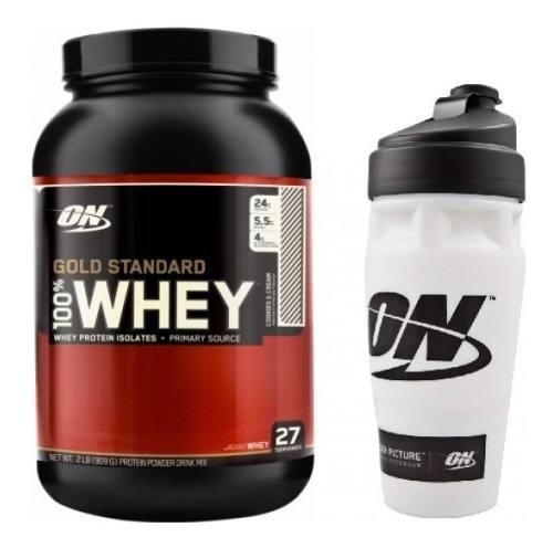 Whey gold standard 2 lbs optimun nutrition on + shaker