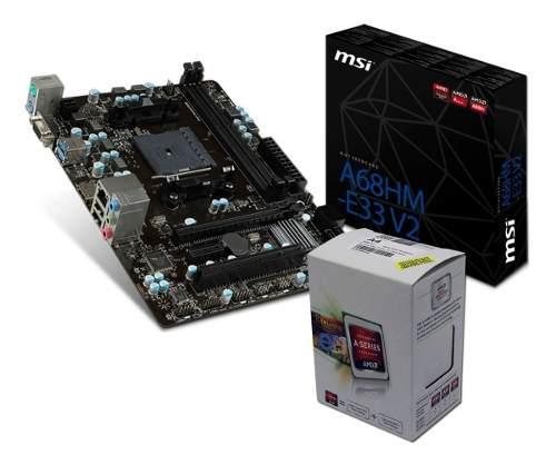 Combo actualización pc amd a6 7480 + mother a68 - envio
