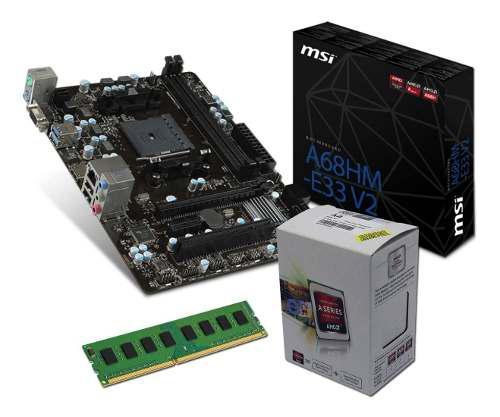 Combo actualización pc micro amd a6 7480 + mother a68 + 4gb