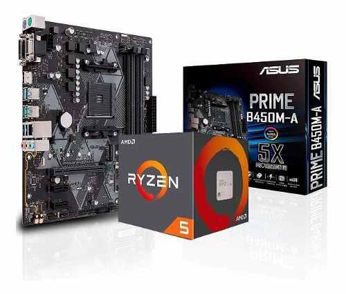Combo actualizacion amd ryzen 5 2600 + mother asus b450 env