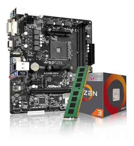Combo kit actualizacion amd ryzen 3 3200g + a320 + 8gb
