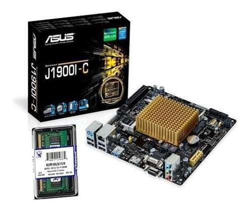 Combo mother asus j1900 quad mini itx + 4gb ram kingston