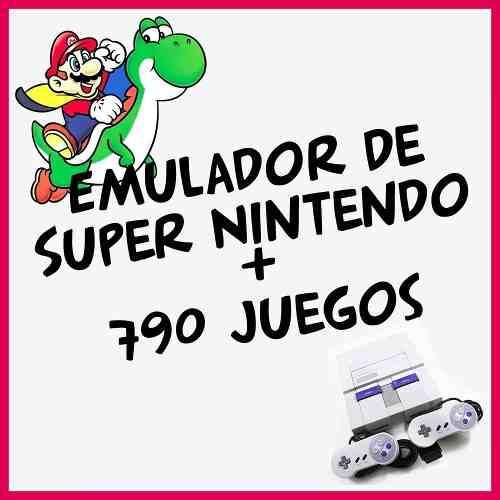 Emulador snes super nintendo + 790 juegos roms pc