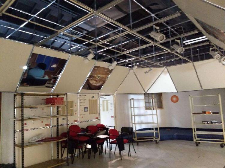 Estructura metálica aluminio luces eventos galeria showroom