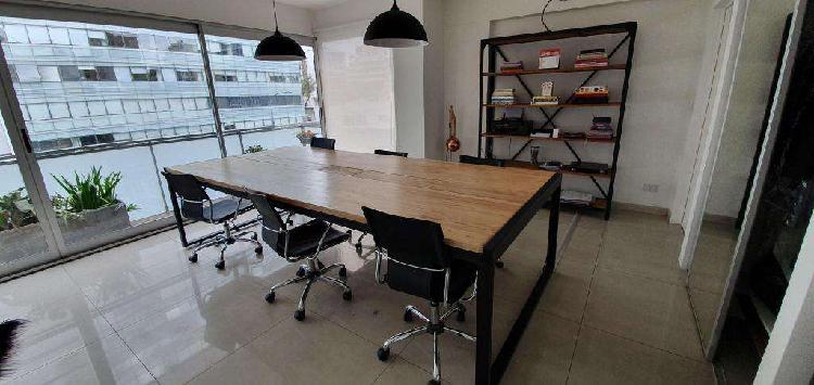 Mesa trabajo/reunión ideal coworking 310x140 paraiso macizo