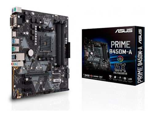 Motherboard asus prime b450m-a am4 ddr4 hdmi