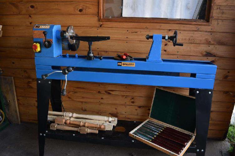 Torno para madera con copiador mbrezzo