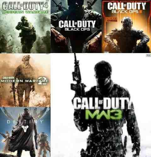 6 juegos xbox 360 call of duty + destiny