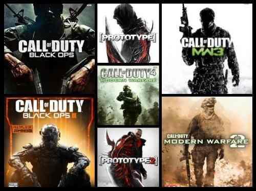 7 juegos xbox 360 call of duty + prototype
