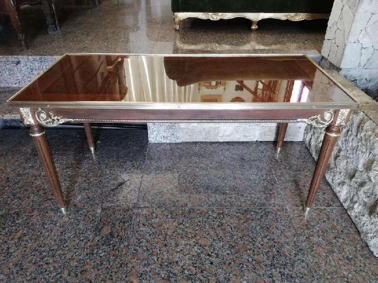 Antigua mesa de sala o ratona estilo francés luis xvi