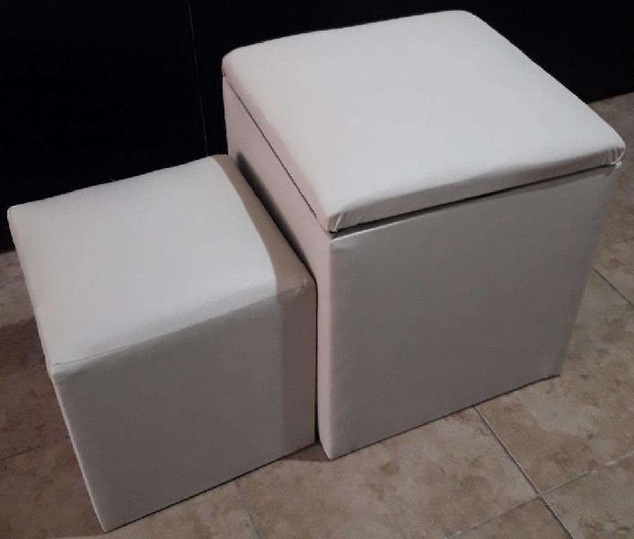 Baul y mini puff cubo