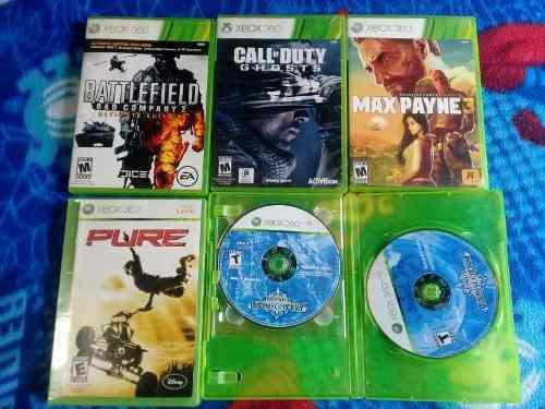 Lote 5 juegos xbox 360 originales