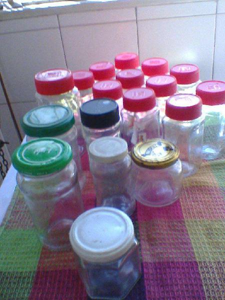 Lote frascos de vidrio vacios !!!! total 22! liquido!