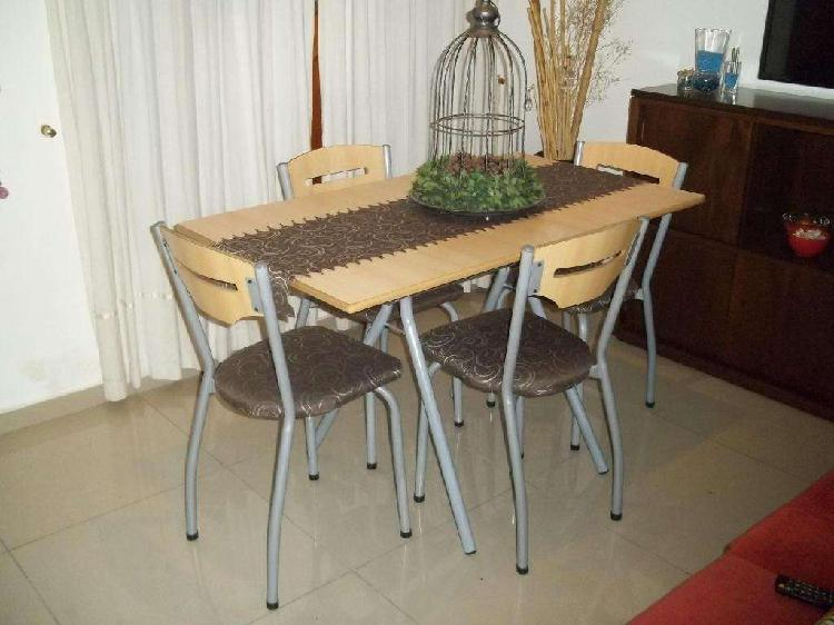 Mesa de 1.20 y 4 sillas marca sidal !! flete gratis !!