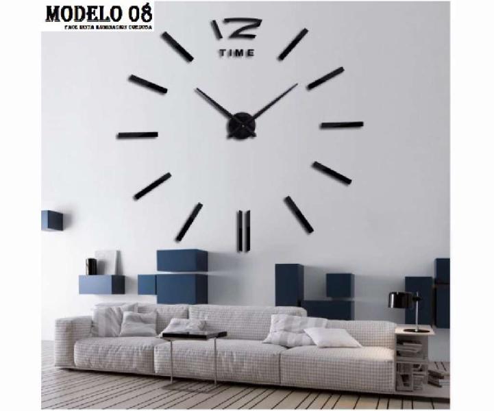 Reloj gigante de pared realmente grandes efecto 3d medida 1m