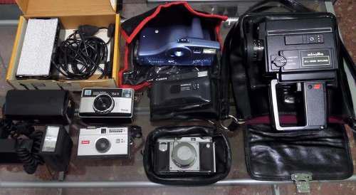 Set colección 11 cámaras antigua fotografía filmadora
