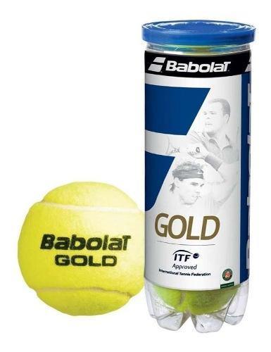 Tubo 3 pelotas babolat gold tenis padel - estacion deportes