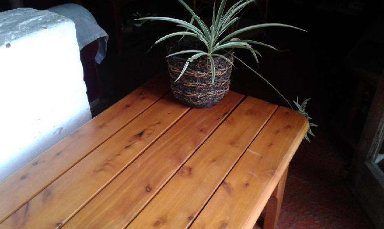Mesa ratona baja madera dura exterior / interior