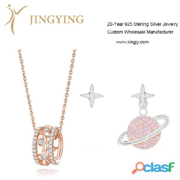 Pendientes colgantes dijes 925 fabricante de joyas de plata esterlina