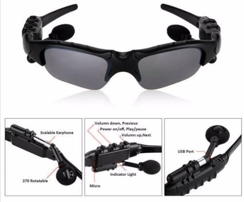 Auricular bluetooth lentes de sol sport manos libres