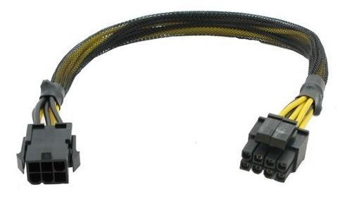 Cable adaptador de pci-e 6 a 8 pines cpu a mother,reforzado