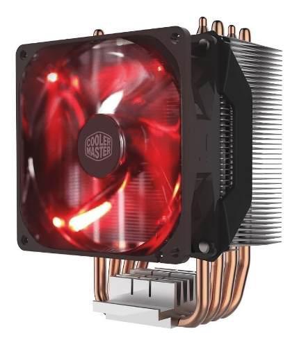Cooler cpu cooler master hyper h410r led roja caballito
