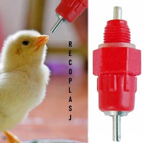 Micro niple para bebedero aves pack 50 unidades