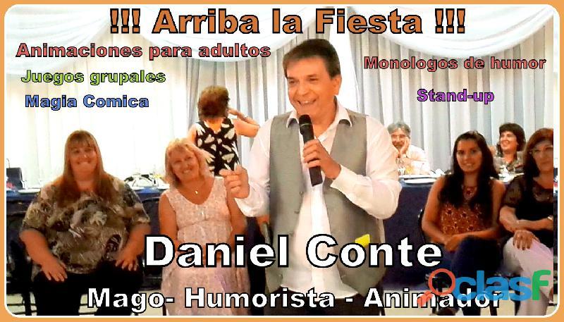 """""""arriba la fiesta"""" animaciones familiares humor magia y juegos"""