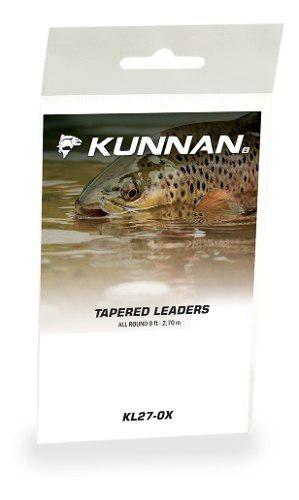 Leader fly fishing pesca mosca kunnan 0x 1x 2x 3x 4x 5x