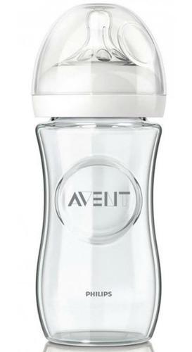 Mamadera avent importada natural glass vidrio 240 ml