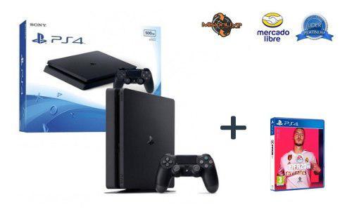 Ps4 playstation slim 500gb+joystick+juego fifa2020 español