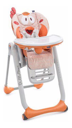 Silla de comer bebe chicco polly 2 start reclinable plegable