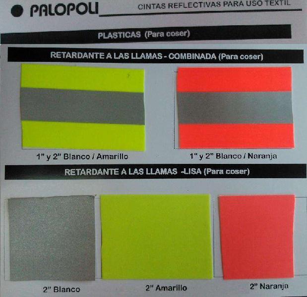 Tela / cinta reflectiva ignifuga lisa/combinada5cm palopoli