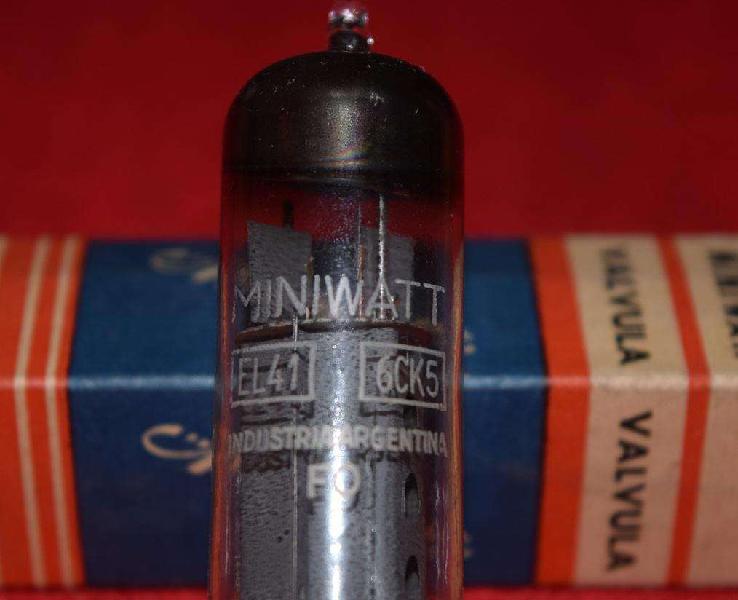 Válvula el41 6ck5, miniwatt, en caja, nos...