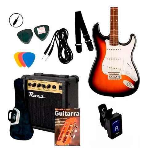 Guitarra eléctrica combo + amplificador + accesorios +