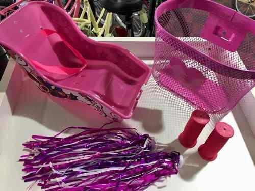 Kit de accesorios para bicicleta de nena