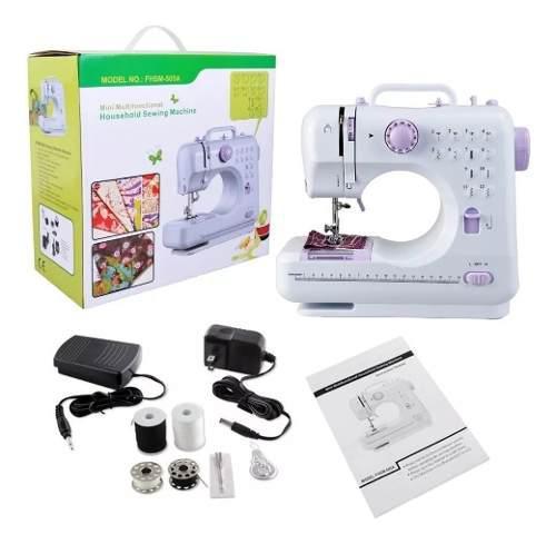 Maquina de coser electrica 220v led pedal 12 puntos portable
