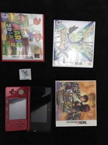 Nintendo 3ds + 4 juegos + tarjeta sd 8gb