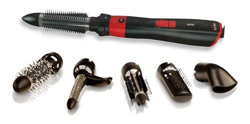 Secador modelador de pelo gama 1200w turbo + 6 accesorios