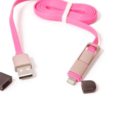 Cable cargador celular usb 2 en 1 carga y sincroniza datos