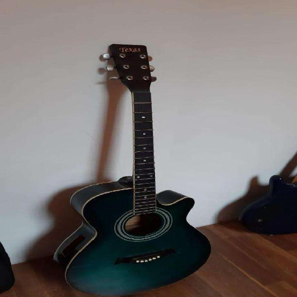 Guitarra acústica texas (sin el circuito electronico)